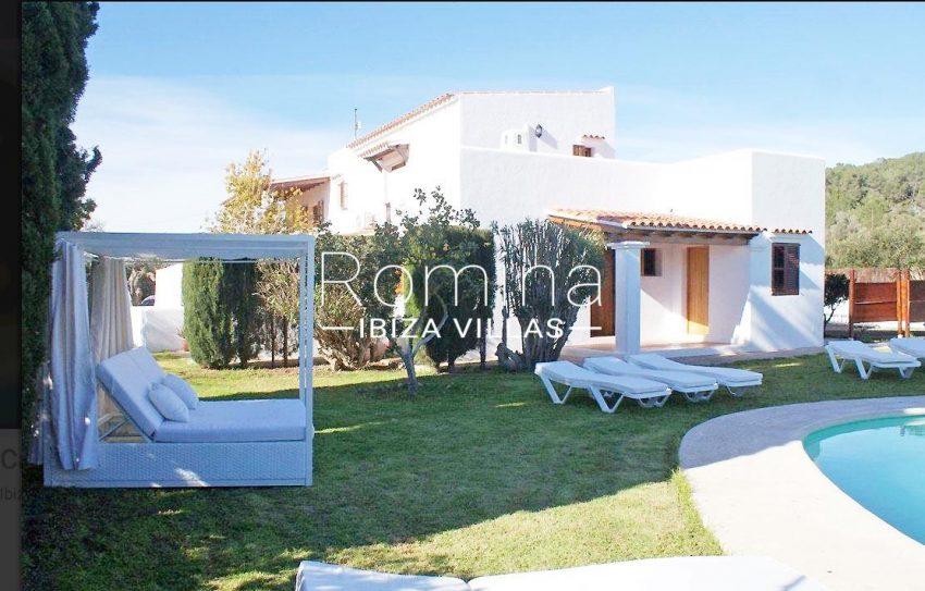 villa santa gertrudis ibiza-2pool facade garden