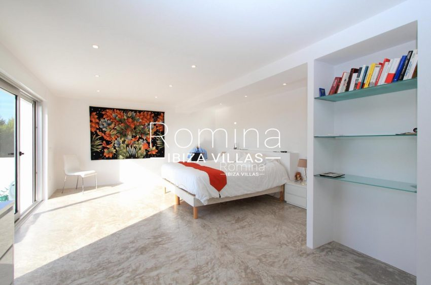 PROPERTY IBIZA VILLA ARCOupstairs modern bedroom