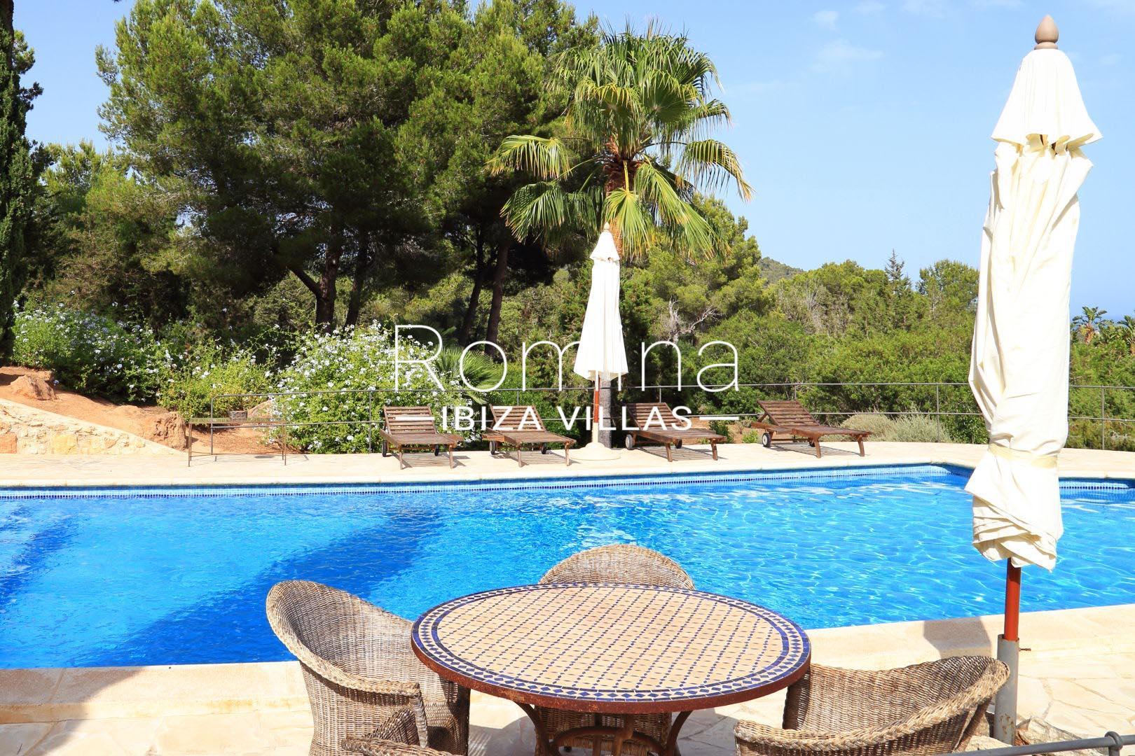 Villa raspalls2swimming pool deck chairs romina ibiza villas for Pool deck chairs for sale