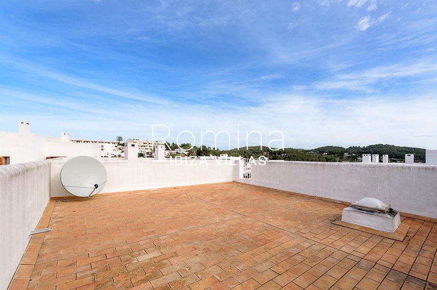 adosado pueblo ibiza - 1roof terrace views