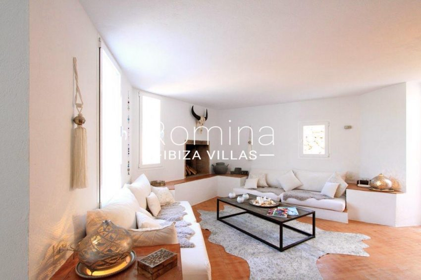calo verde ibiza-3living room fireplace