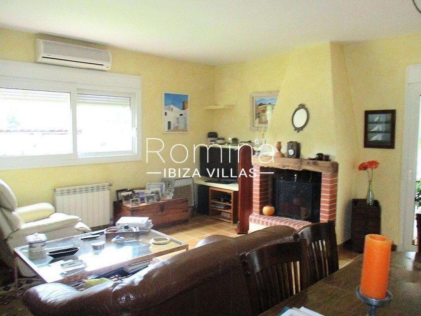 casa campo v ibiza-3living room fireplace