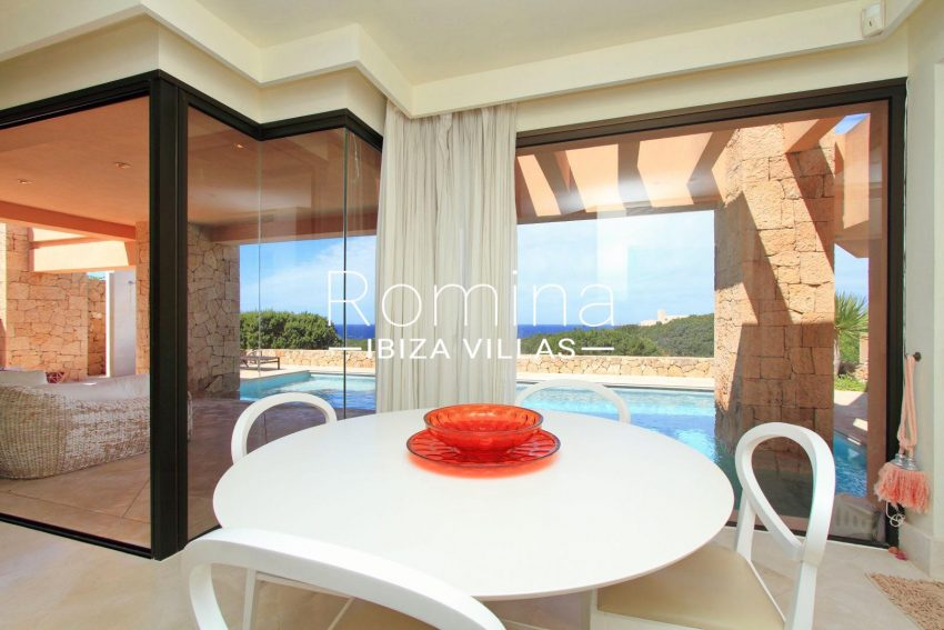 villa kali ibiza-3dining area sea views