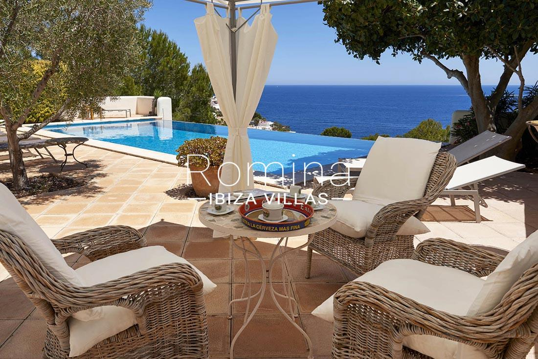 Villa roca llisa ibiza 1sea views pool terrace lounge for Terrace lounge