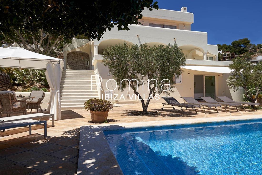 Villa roca llisa ibiza 2swimming pool terrace facade - Roca llisa ibiza ...