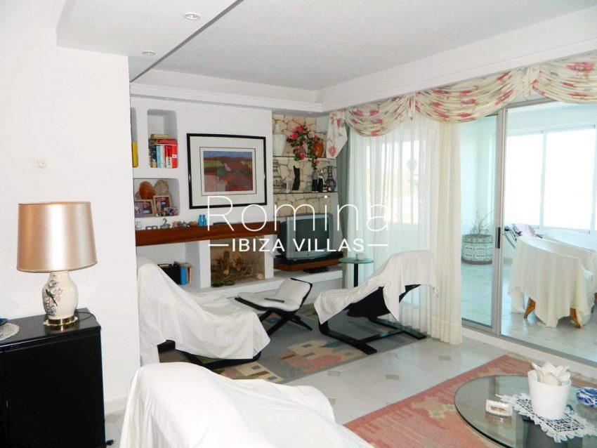 apartamento vistas mar andy-3living room fireplace
