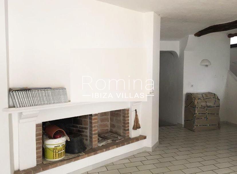 casa los arboles-3living room fireplace