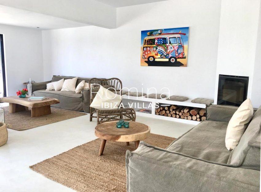 villa corazon-3living room fireplace