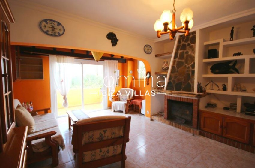 casa alaia ibiza-3living room fireplace