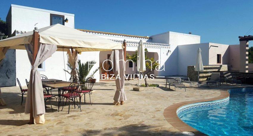 casa iger ibiza-2pool terrace dining area