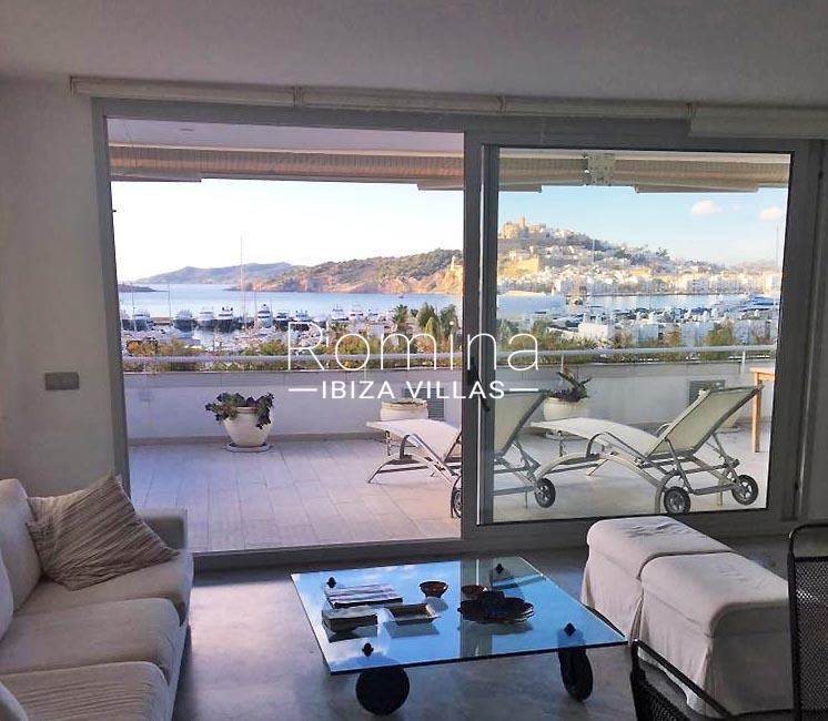 apto paseo ibiza-3living room sea view Dalt Vila