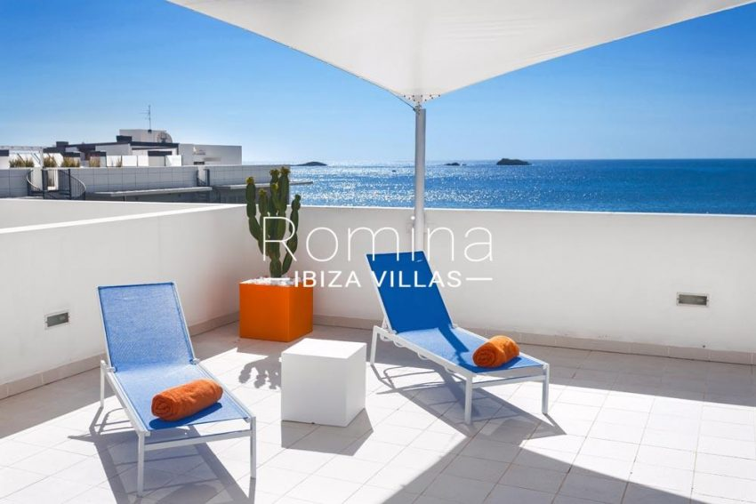 atico royal beach ibiza-1sun terrace sea views