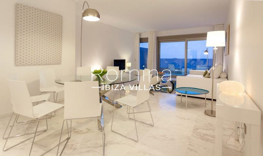 atico royal beach ibiza-3dining living roomsea views