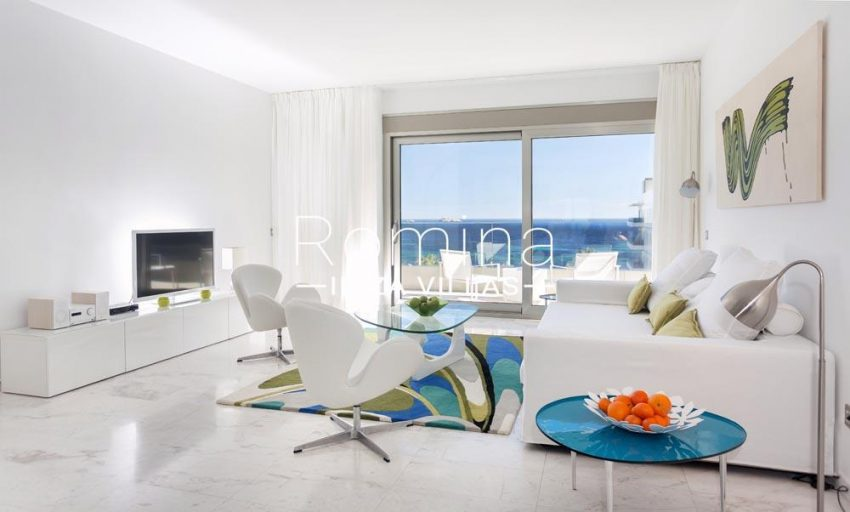 atico royal beach ibiza-3living room sea views