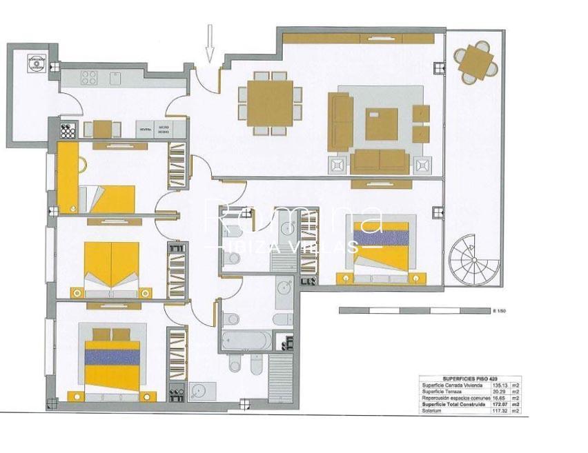 Room Atico Royal Beach Ibiza 6apartment Plan