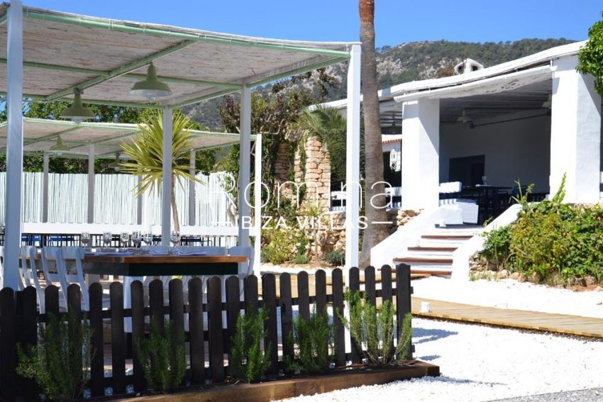can graner ibiza-terrace pergola stairs to restaurant