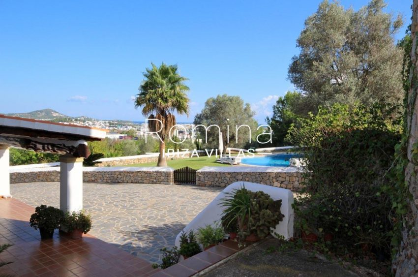 casa dorrea ibiza-1terrace garden pool sea views