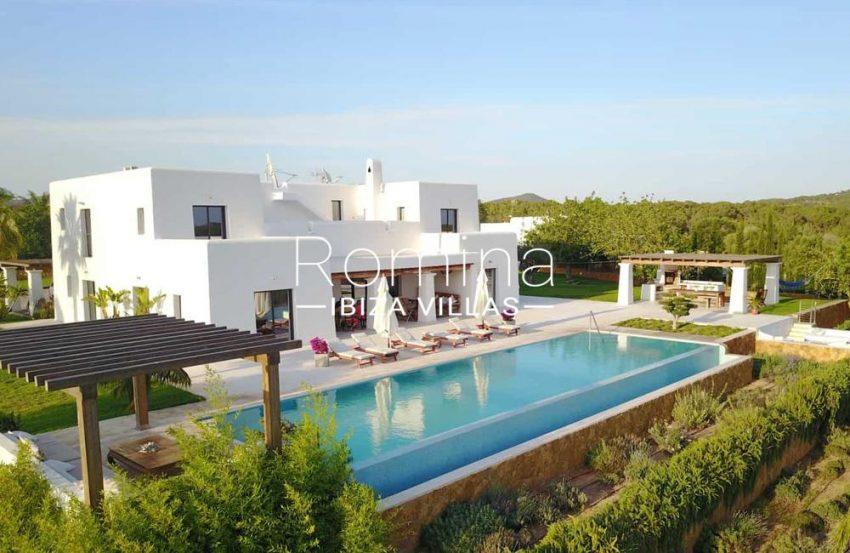 villa hegan ibiza s -2pool facade gardens2