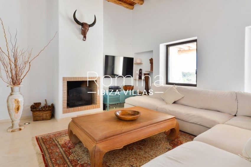 villa hegan ibiza s-3living room fireplace