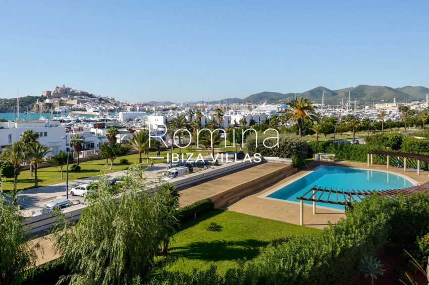 apto botafoch ibiza-1pool sea views dalt vila
