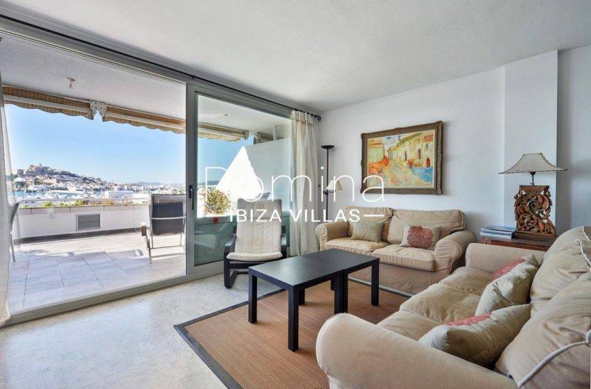 apto botafoch ibiza-3living room sea views dalt vila