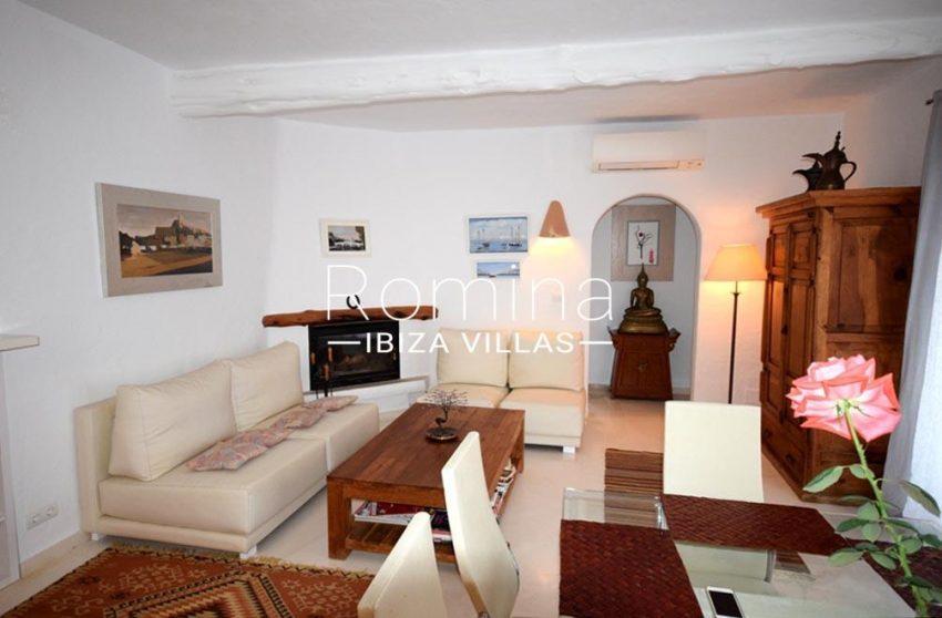 villa colinas ibiza-3living room fireplace