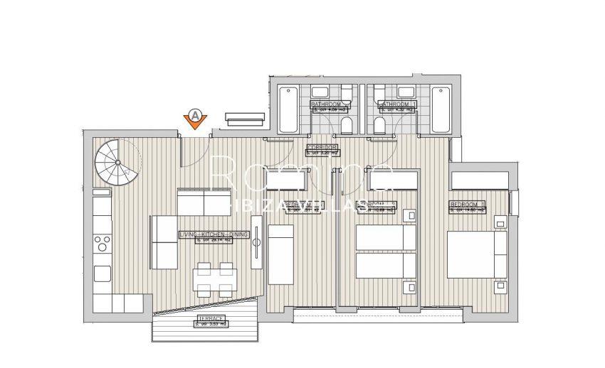 apartamentos ondoan ibiza-6plan 1st floor apt A