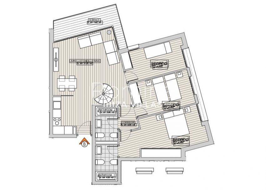 apartamentos ondoan ibiza-6plan 1st floor apt B