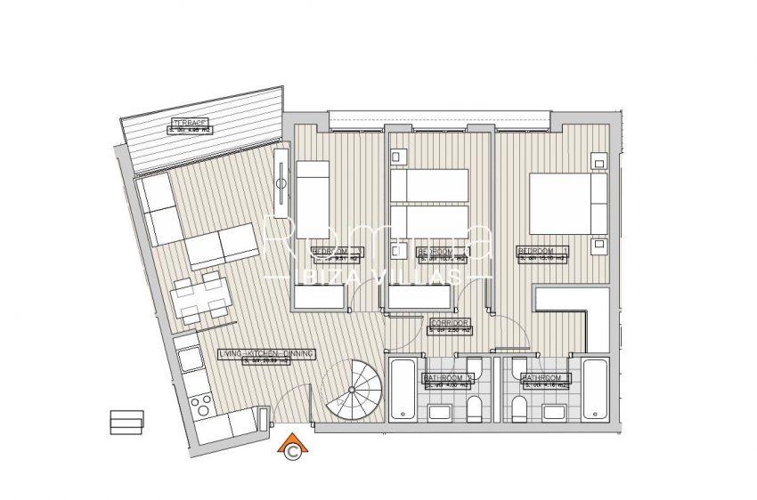apartamentos ondoan ibiza-6plan 1st floor apt C
