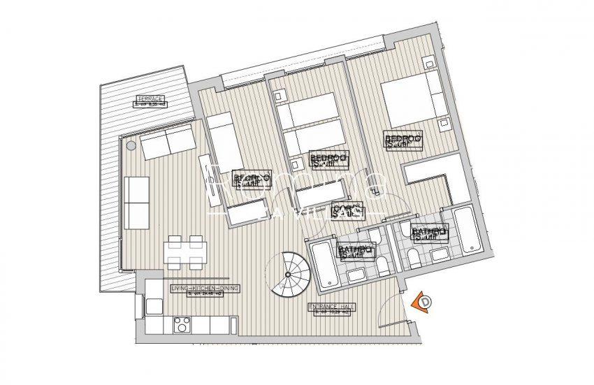 apartamentos ondoan ibiza-6plan 1st floor apt D
