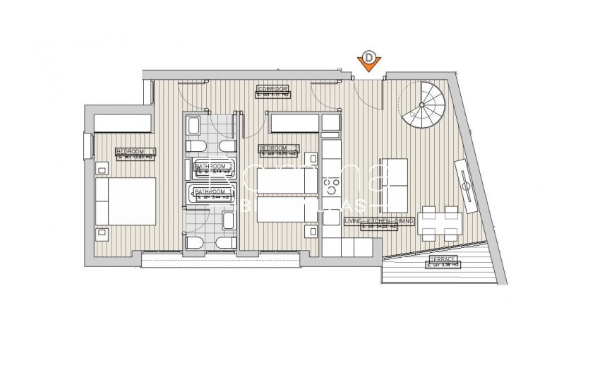 apartamentos ondoan ibiza-6plan 1st floor apt D2