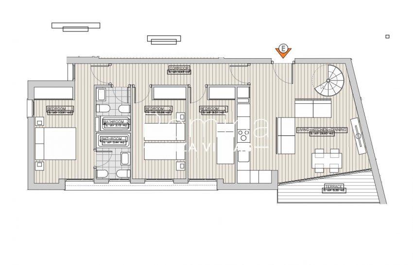 apartamentos ondoan ibiza-6plan 1st floor apt E