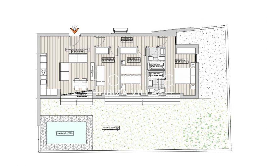 apartamentos ondoan ibiza-6plan ground floor apt A2
