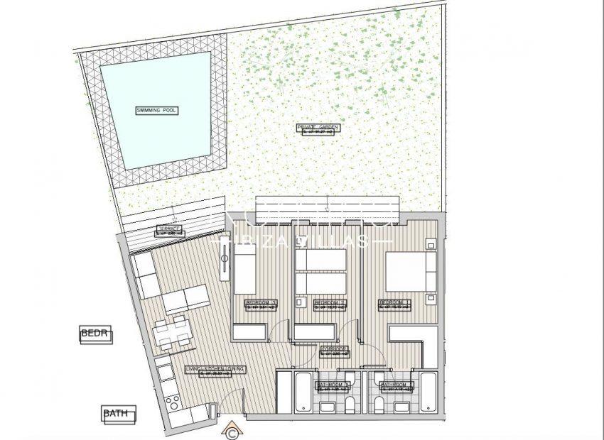 apartamentos ondoan ibiza-6plan ground floor apt C