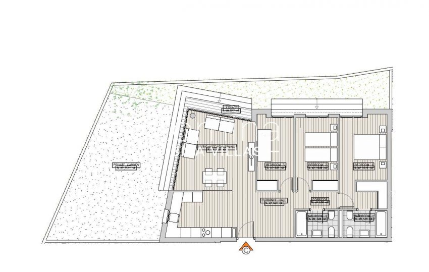 apartamentos ondoan ibiza-6plan ground floor apt C2