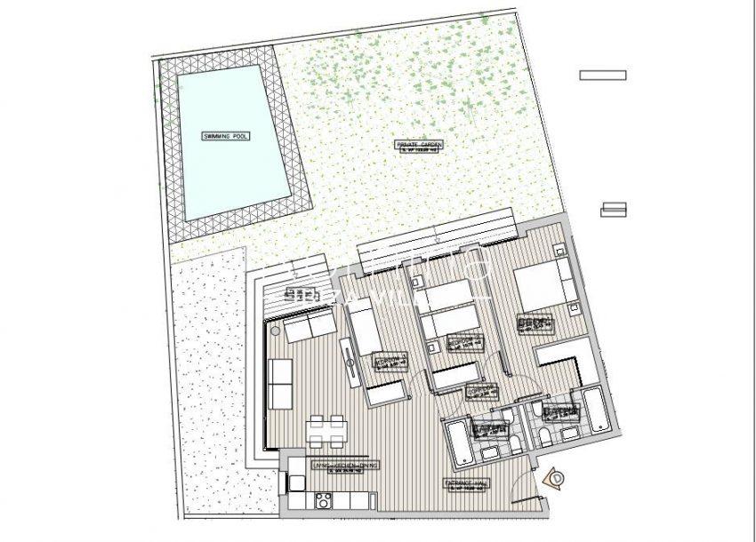 apartamentos ondoan ibiza-6plan ground floor apt D