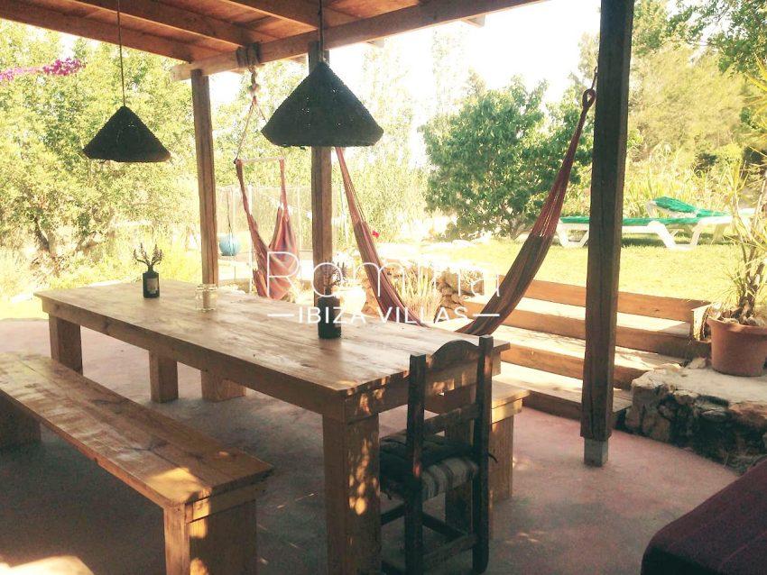 can higuera ibiza-2porche dining area