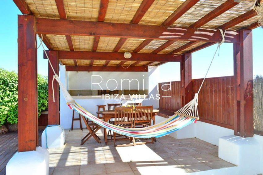 casa izar ibiza-pergola terrace dining area