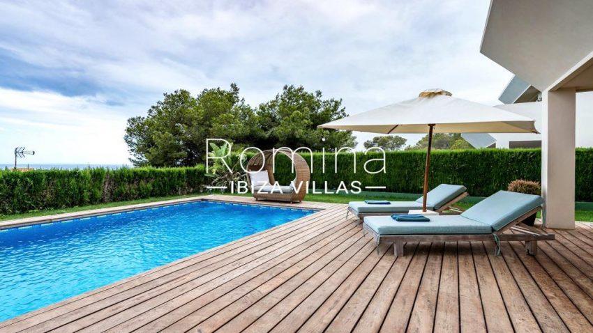 villa ederra ibiza-1pool terrace sea views