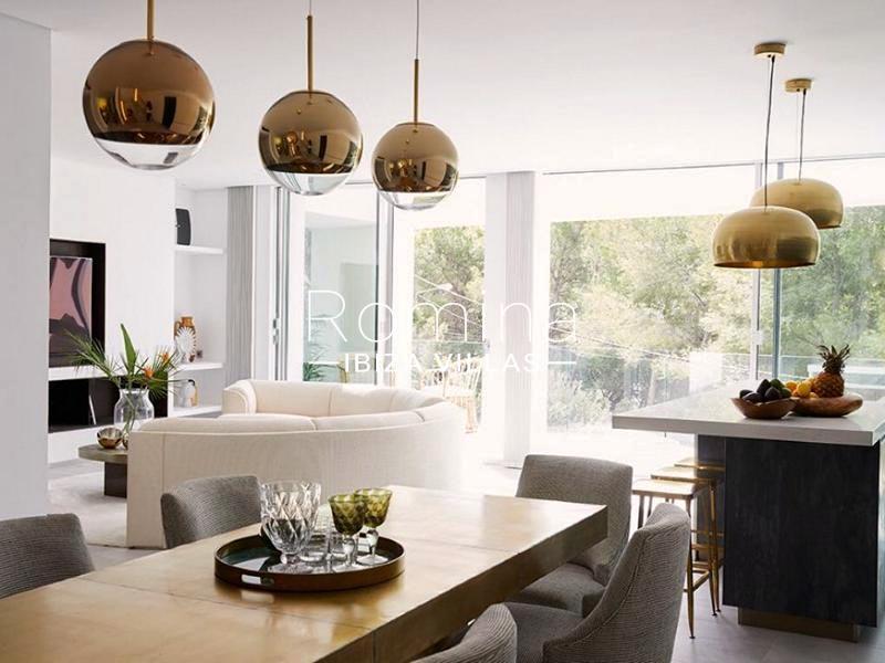 villa mendi ibiza-3living dining room kitchen