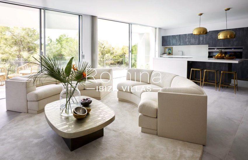 villa mendi ibiza-3living room kitchen