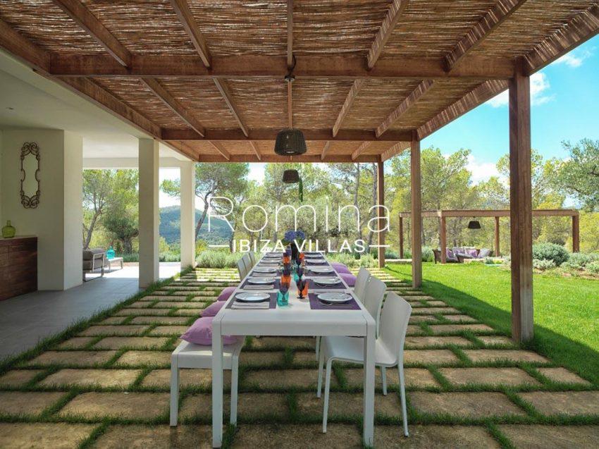 villa nahiko ibiza-2pergola terrace dining area2