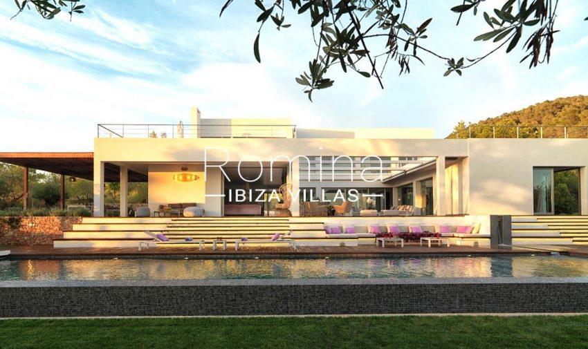 villa nahiko ibiza-2pool facade