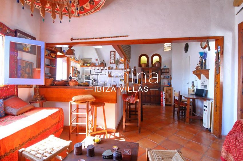 casa luz ibiza-3living area kitchen