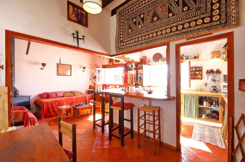 casa luz ibiza-3zkitchen dining and living area