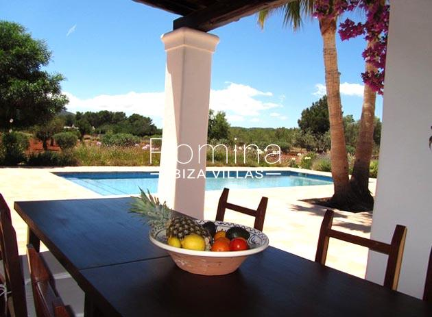 finca camino blanco ibiza-2terrace dining area pool