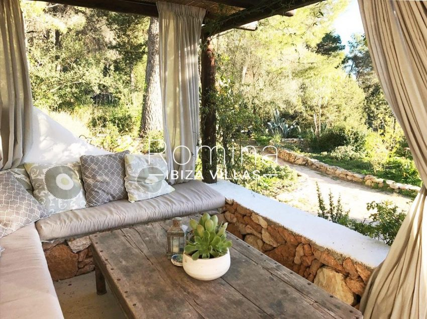 finca lina ibiza-2porch seating area