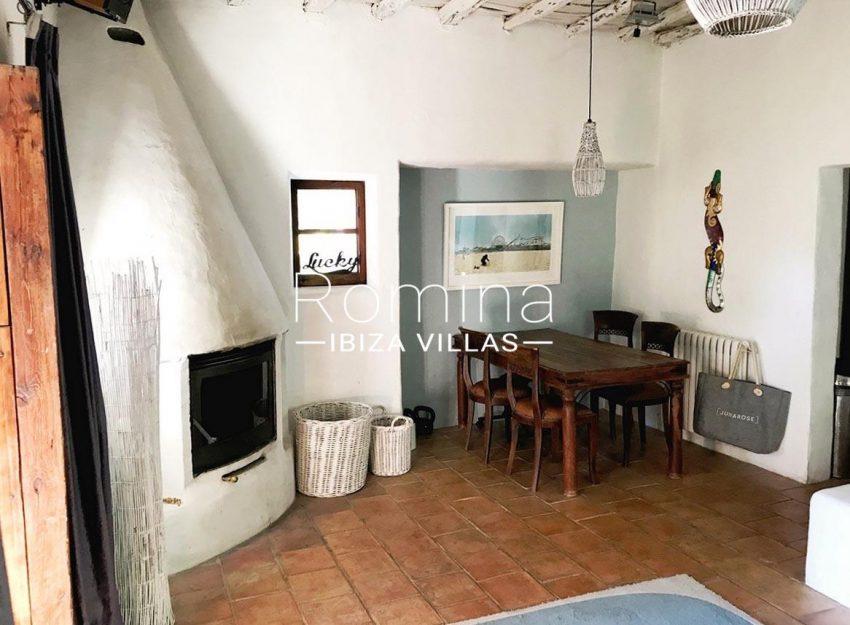 finca lina ibiza-3dining room fireplace
