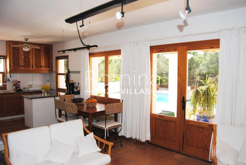 villa enia ibiza-3living dining room kitchen