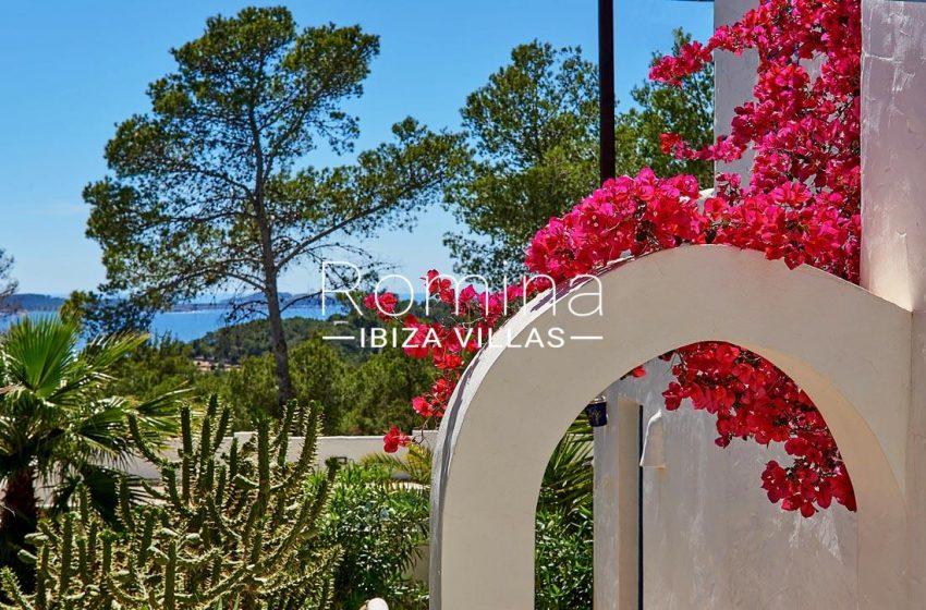 villa itsas ibiza-1bouganivilla arch sea view